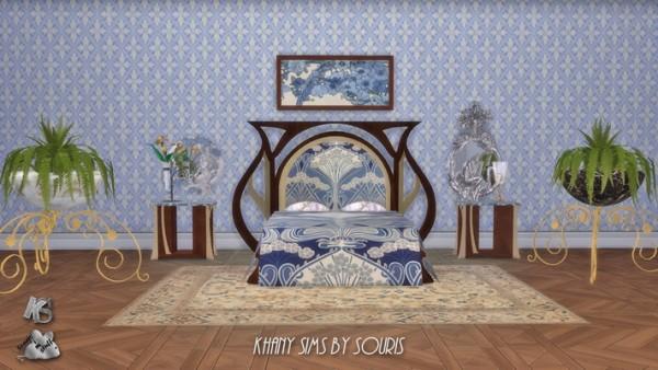Khany Sims: Art Nouveau Bedroom