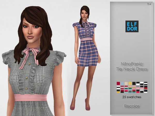 Elfdor: NitroPanic`s Tie Neck Dress Recolored