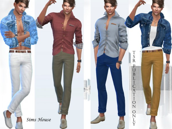 The Sims Resource: Classic mens pants by Sims House