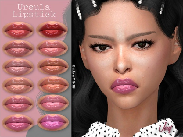 The Sims Resource: Ursula Lipstick N.199 by IzzieMcFire