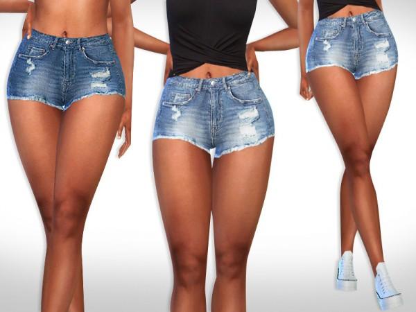The Sims Resource: Super Mini Cropped Shorts by Saliwa