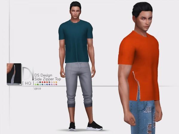 The Sims Resource: Design Side Zipper Top by DarkNighTt