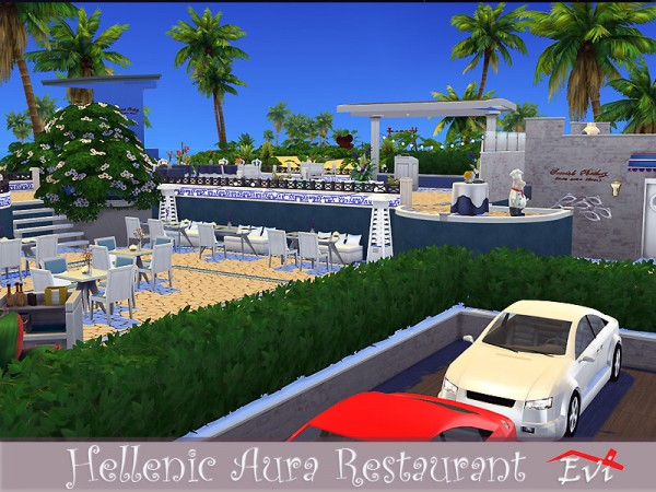 The Sims Resource: Hellenic aura restaurant by evi