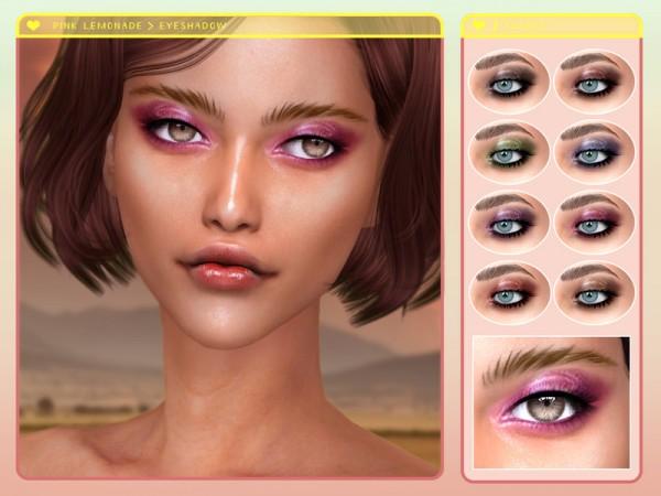 The Sims Resource: Pink Lemonade Eyeshadow