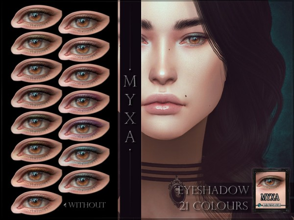 The Sims Resource: Myxa Eyeshadow by RemusSirion