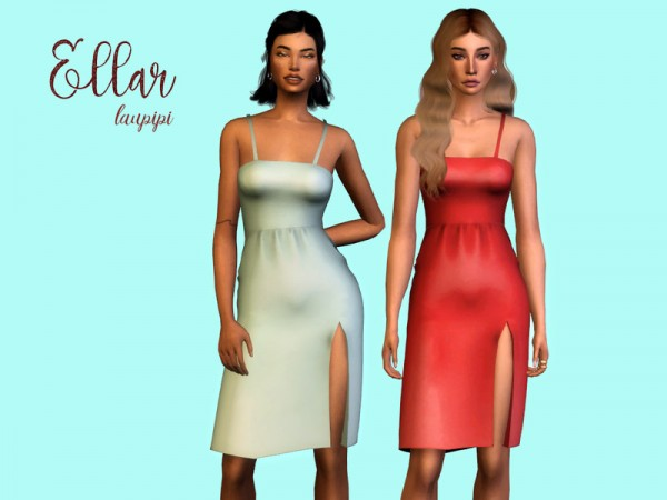 The Sims Resource: Ellar Dress by laupipi