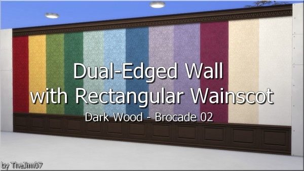 Mod The Sims: Dual Edged Wall with Rectangular Wainscot by TheJim07