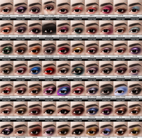 Praline Sims: Eyeshadow 80