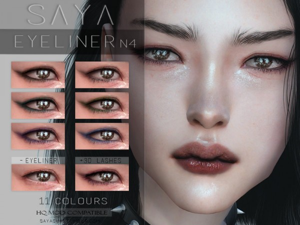 The Sims Resource: Eyeliner N4 by SayaSims