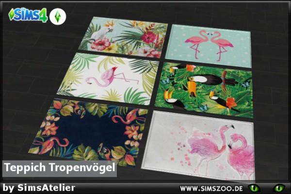 Blackys Sims 4 Zoo: Carpet tropical birds by SimsAtelier