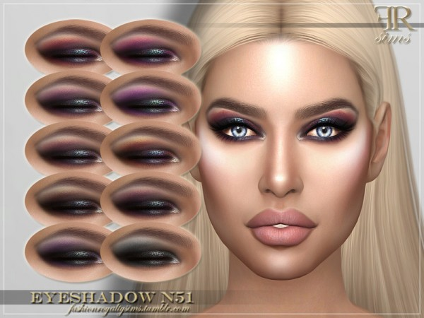 The Sims Resource: Eyeshadow N51 by FashionRoyaltySims