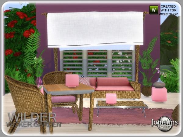 The Sims Resource: Wilder wicker garden set by jomsims