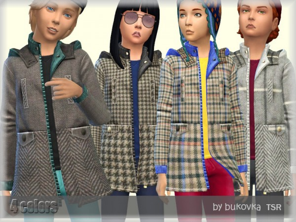 The Sims Resource: Coat Tweed by bukovka