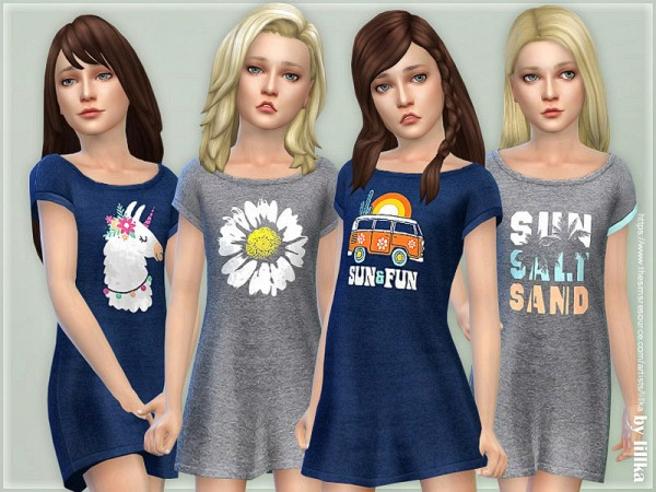 The Sims Resource: Girls Dresses Collection P129 by lillka