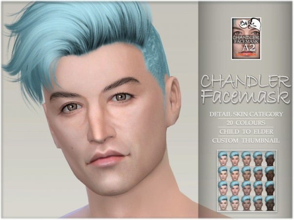 The Sims Resource: Chandler facemask by BAkalia