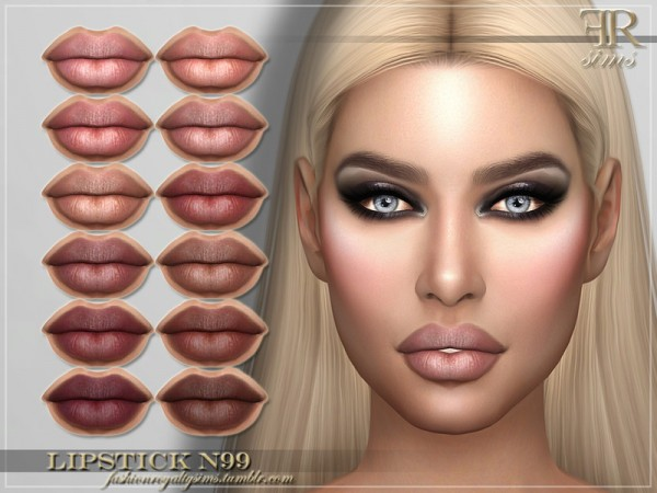 The Sims Resource: Lipstick N99 by FashionRoyaltySims