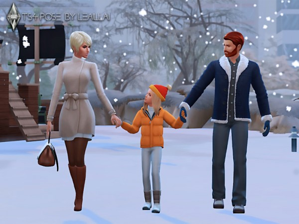 The Sims Resource: Pose family walks by LeaIllai
