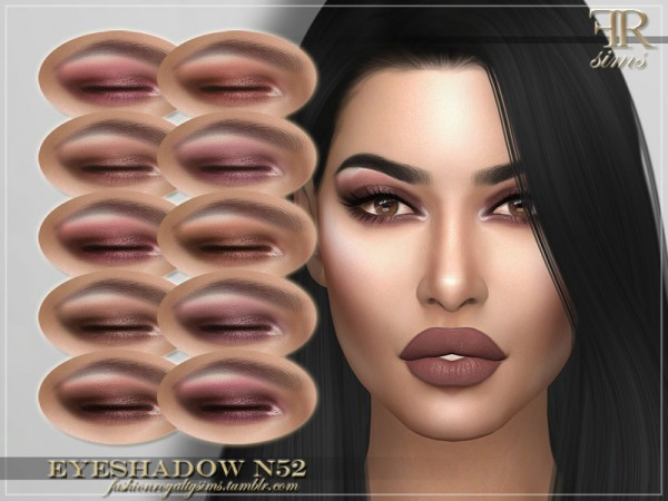 The Sims Resource: Eyeshadow N52 by FashionRoyaltySims