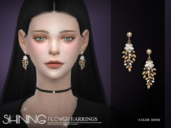 The Sims Resource: Earrings 201918 by S Club