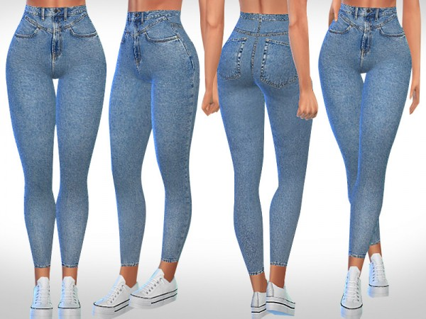 The Sims Resource: New Style Skinny Fit Jeans by Saliwa