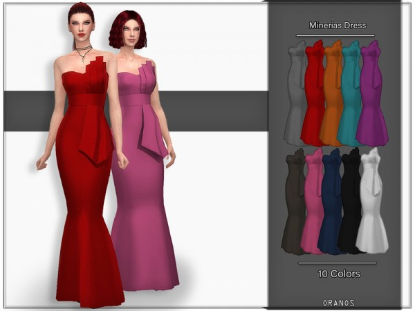 The Sims Resource: Minerias Dress by OranosTR