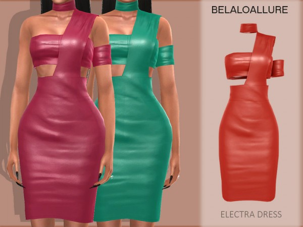 The Sims Resource: Electra dress by belal1997