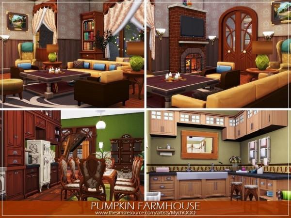 The Sims Resource: Pumpkin Farmhouse by MychQQQ