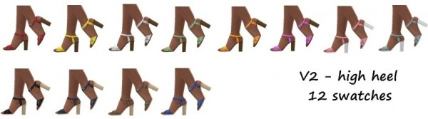 Sims 4 Sue: Buckled sandals v1