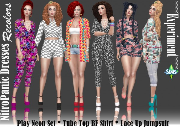 Annett`s Sims 4 Welt: Lace Up Jumpsuit