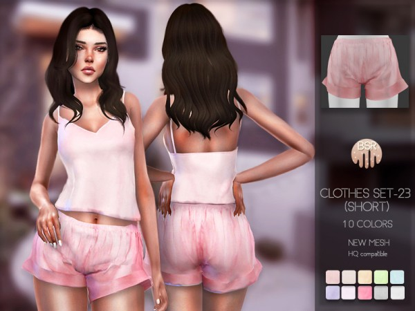 The Sims Resource: Nightwear SET 23   short by busra tr