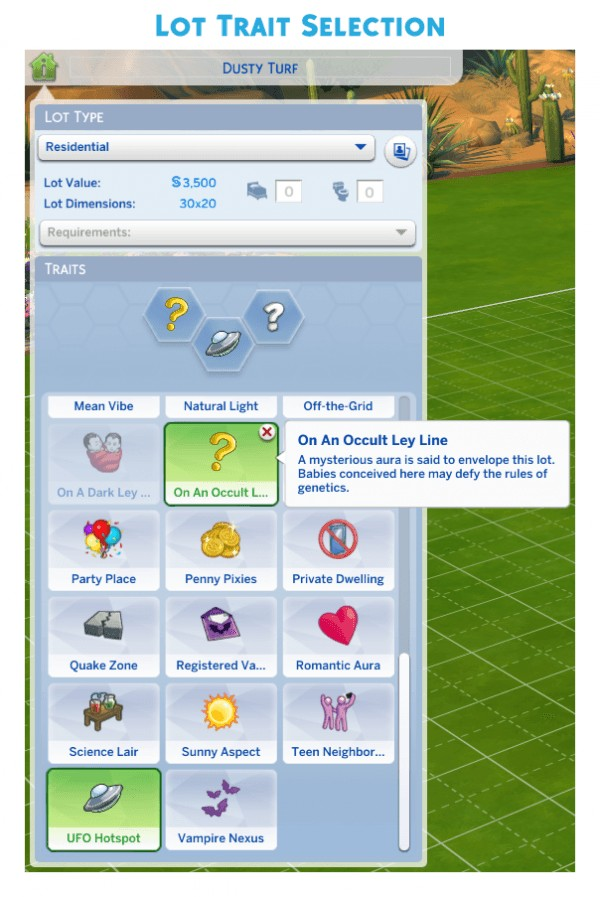 Mod The Sims: On An Occult Ley Line (Lot Trait) by r3m