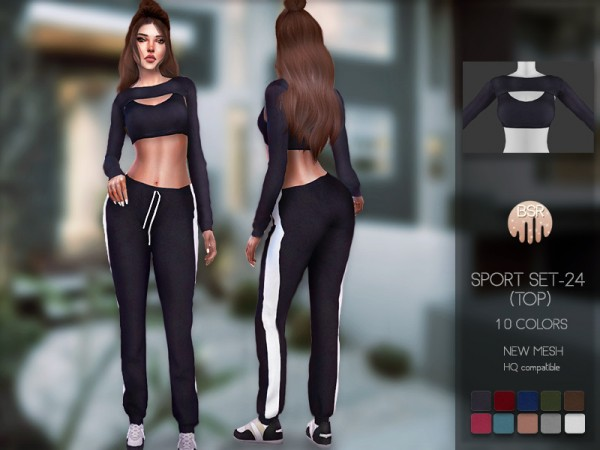 The Sims Resource: Sport SET 24 top by busra tr