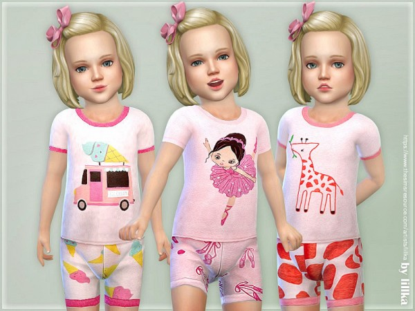 The Sims Resource: Summer Pajama for Toddlerby lillka