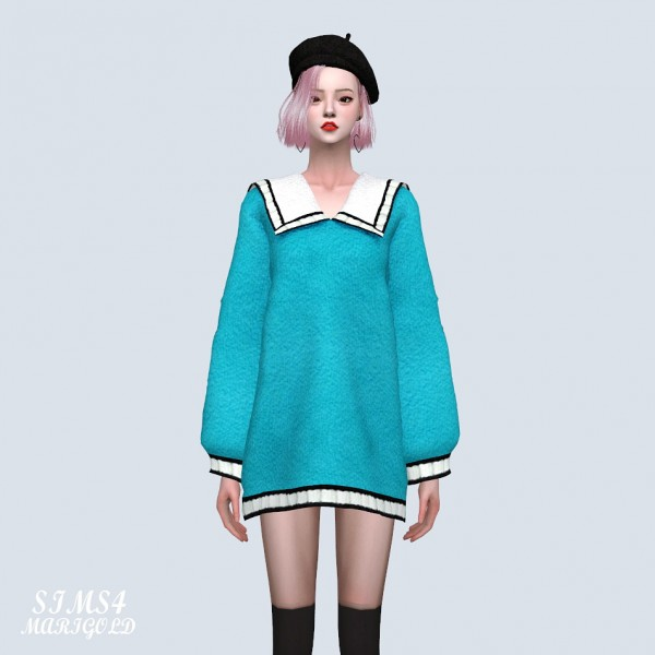 SIMS4 Marigold: Cute Knit Mini Dress