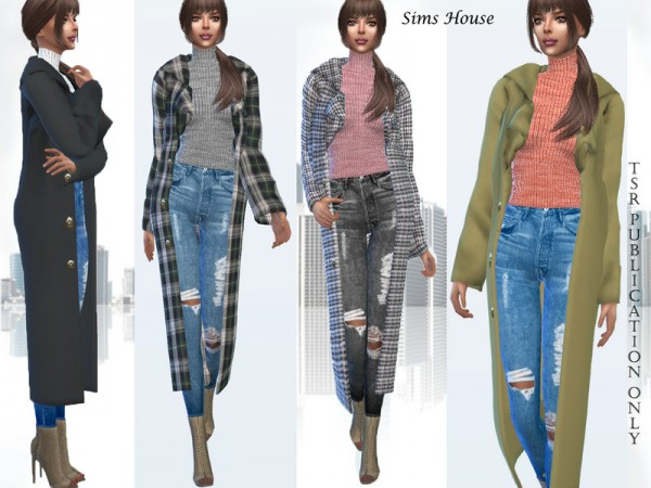 The Sims Resource: Long women coat by Sims House