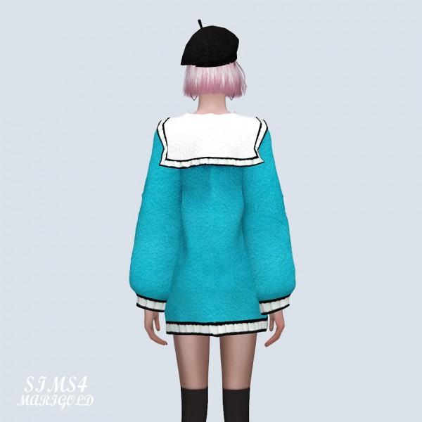 SIMS4 Marigold: Cute Knit Mini Dress