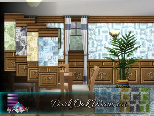 The Sims Resource: Dark Oak Wainscot by emerald