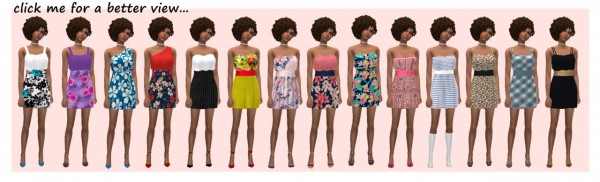 Sims 4 Sue: Flutter dress