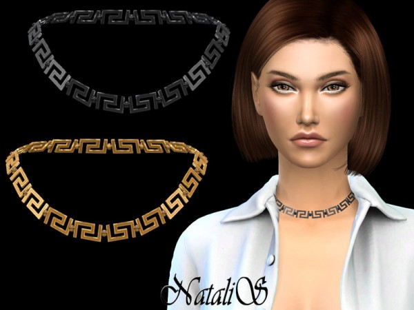 The Sims Resource: Greek motif short necklace by NataliS