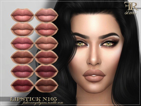 The Sims Resource: Lipstick N105 by FashionRoyaltySims