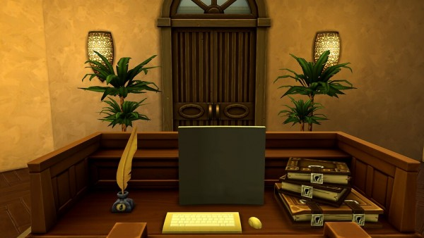 Ihelen Sims: Papyrus Library by Rany Raydolff