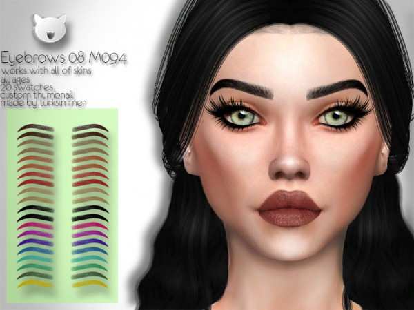 The Sims Resource: Eyebrows 08 M094 by turksimmer