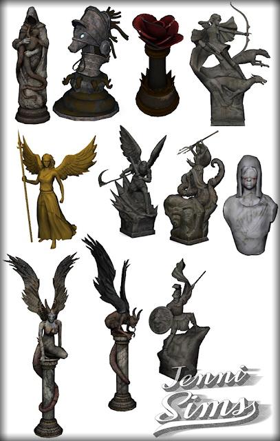 Jenni Sims: Decorative Statues Darkness Falls