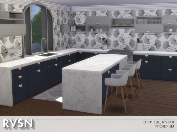 The Sims Resource: Chop It Like Its Hot Kitchen Set by RAVASHEEN