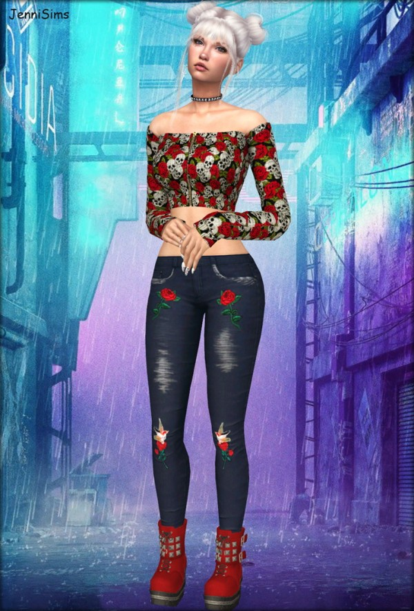 Jenni Sims: Collection Jeans and Boots Cybergoth World