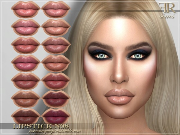 The Sims Resource: Lipstick N98 by FashionRoyaltySims