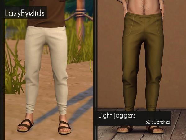 Lazyeyelids: Light joggers