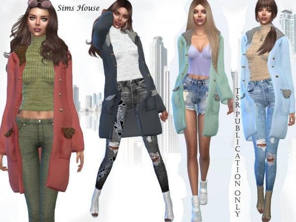 The Sims Resource: Womens short autumn coat by Sims House