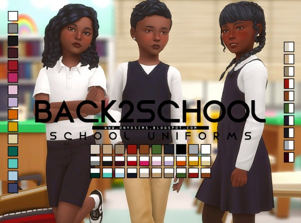 Onyx Sims: Back 2 School Collection
