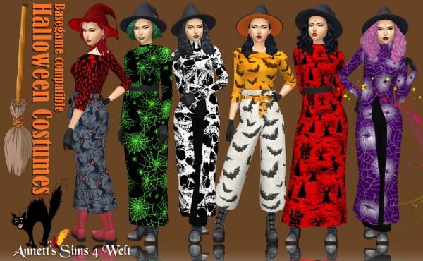 Annett`s Sims 4 Welt: Halloween Costumes
